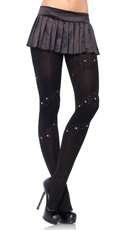 Stars and Studs Opaque Tights