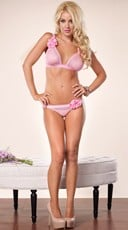 Pretty In Pink Bra and Panty Set