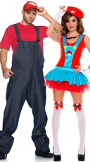 Playful Plumbers Couples Costume