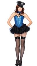 Captivating Cop Corset Costume