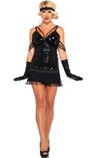 Black Sequin Flapper Costume