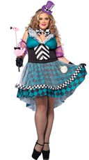 Plus Size Crazy Mad Hatter Costume
