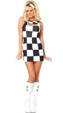Checkered Go Go Girl Costume