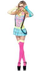 Neon Schoolgirl Costume