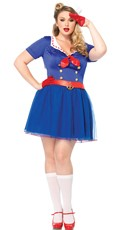 Plus Size Sexy Sailor Costume