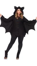 Plus Size Fleece Bat Costume