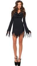 Tattered Cowl Neck Costume Dress
