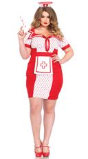 Plus Size Bedside Betty Nurse Costume