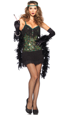 Sexy Feathered Flapper Costume