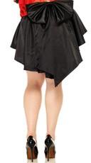 Plus Size Satin Burlesque Skirt