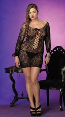 Plus Size Seamlesss Lace Chemise