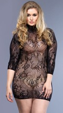Plus Size Sheer Victorian Lace Chemise