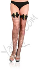 Net Thigh High with Dollar Sign
