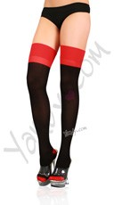 Lycra Cuban Heel Two Toned Stocking