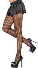 Striped Chevron Pantyhose