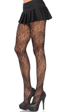 Two Tone Spiral Lace Pantyhose
