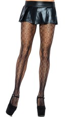 Scalloped Vintage Lace Pantyhose