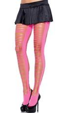 Neon Seamless Shredded Pantyhose