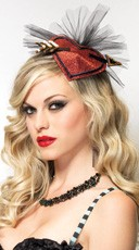 Cupid Lurex Hair Clip With Tulle Fan Detail