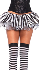 Striped Satin and Chiffon Tutu