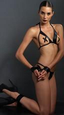 Sexy Vixen Open Cup Bra Lingerie Set