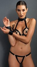 Sexy Vixen Faux Leather Lingerie Set