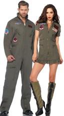 Top Gun Flight Suit Couples Costume