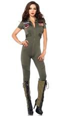 Sexy Top Gun Flight Suit Costume