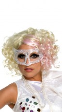 Lady Gaga Curly Blonde and Pink Wig