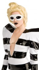 Lady Gaga White Curved Glasses