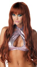 Long Red Mermaid Wig