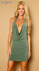 Low Front Slinky Mini Dress