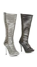 "5"" Knee High Multi Strap Sandals"