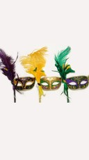 Mardi Gras Mask with Feathers