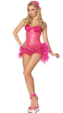 Flamingo Show Girl Costume
