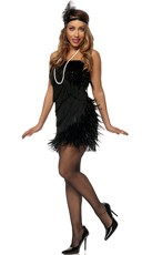 Black Feather Flapper Costume
