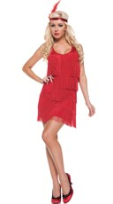 Red Hot Flapper Costume