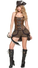 Deluxe Steampunk Pirate Captain Costume