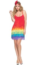 Deluxe Rainbow Flapper Costume