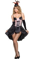 Black And Pink Burlesque Girl Costume