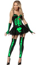 Sexy Green Skeleton Costume