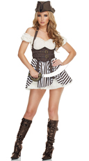 Flirtatious Steampunk Pirate Costume