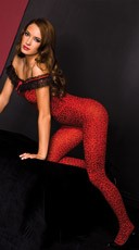 Red Cheetah Bodystocking