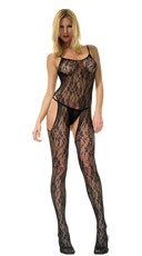 Plus Size Suspender Bodystocking