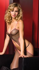 Fishnet Open Back Bodystocking
