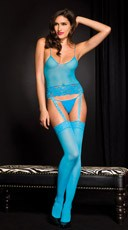 Turquoise Cami and Stocking Set