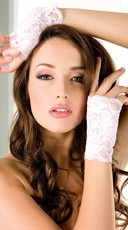 Baby Pink Lace Gloves