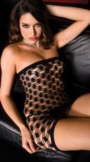 Black Diamond Net Tube Dress