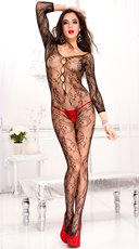 Long Sleeve Paisley Bodystocking
