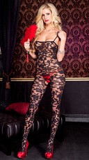 Flower Print Bodystocking